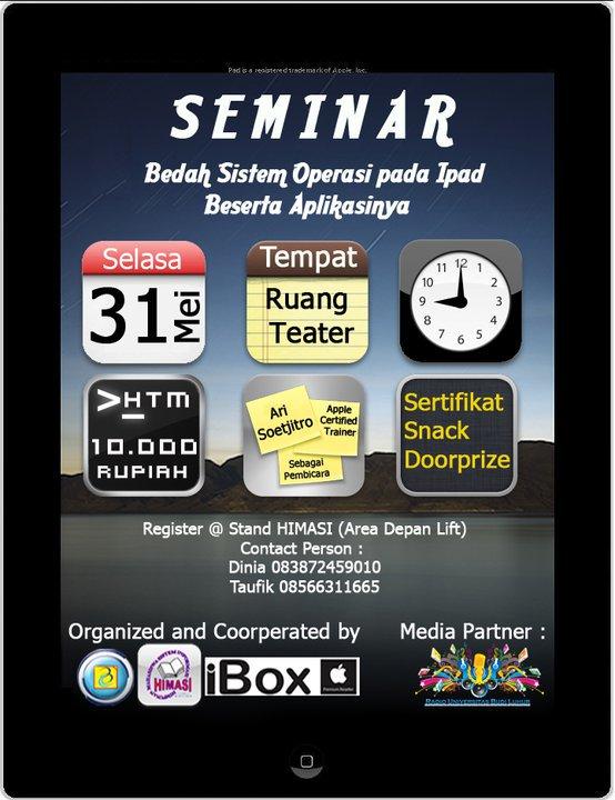 Seminar Bedah Sistem Operasi dan Aplikasi IPad