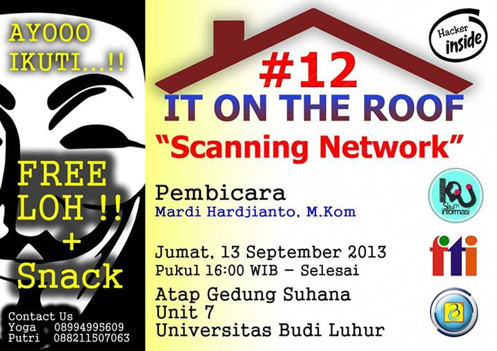 "[SEMINAR] IT ON THE ROOF #12 ""SCANNING NETWORKS"""