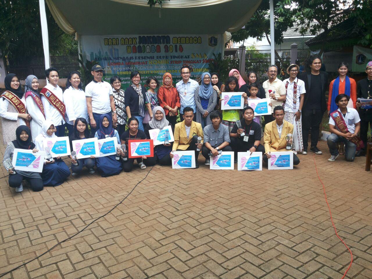 Lomba Hari Anak Jakarta Membaca (HANJABA) 2016