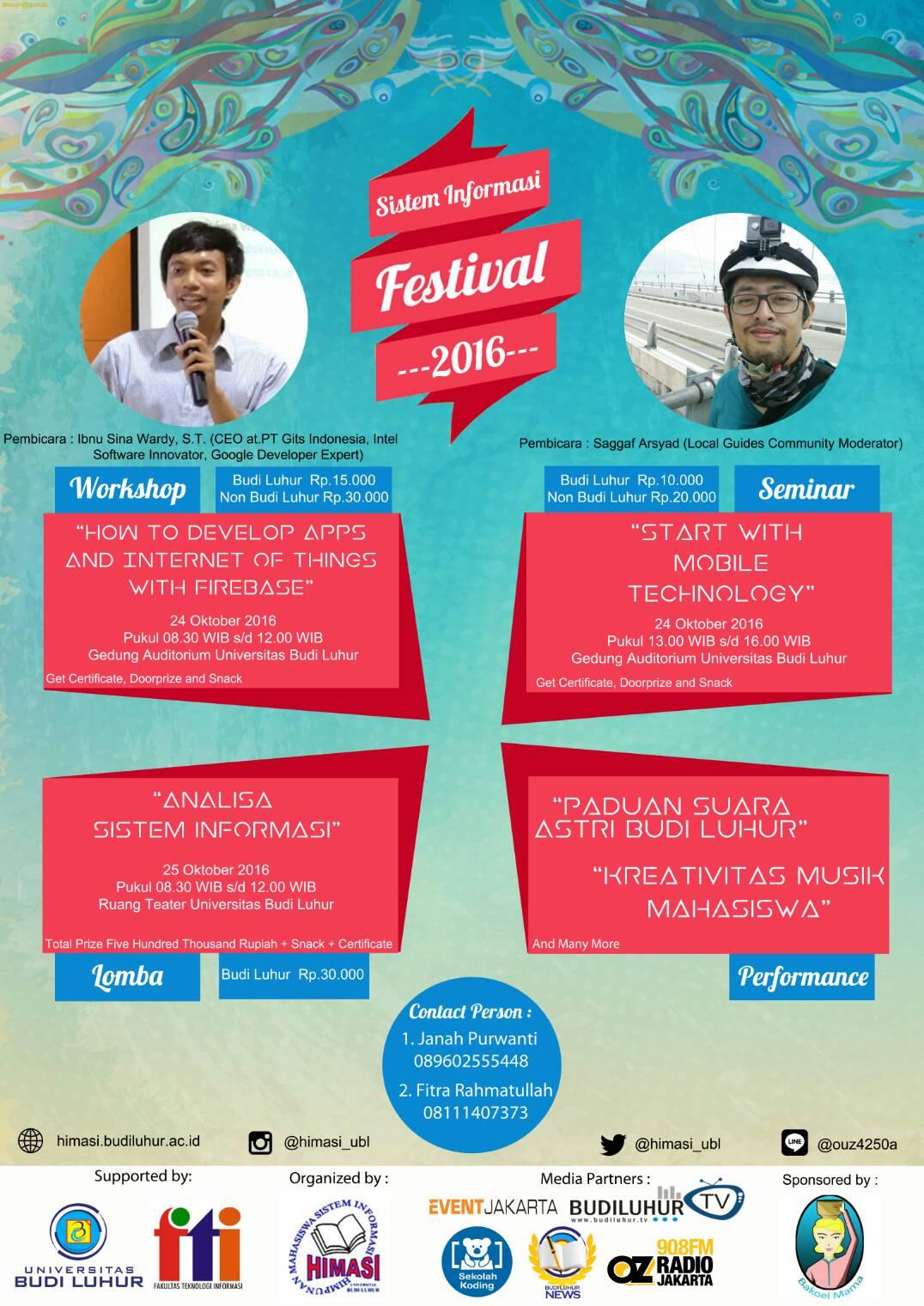SI Fest 2016 Universitas Budi Luhur