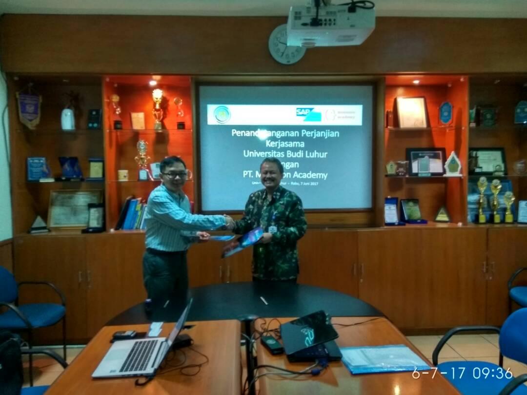 Penandatanganan Memorandum of Understanding (MoU) Universitas Budi Luhur dengan PT Monsoon Academy