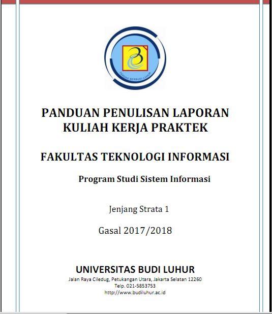 PANDUAN PENULISAN KKP SISTEM INFORMASI SEMESTER GASAL 2017/2018