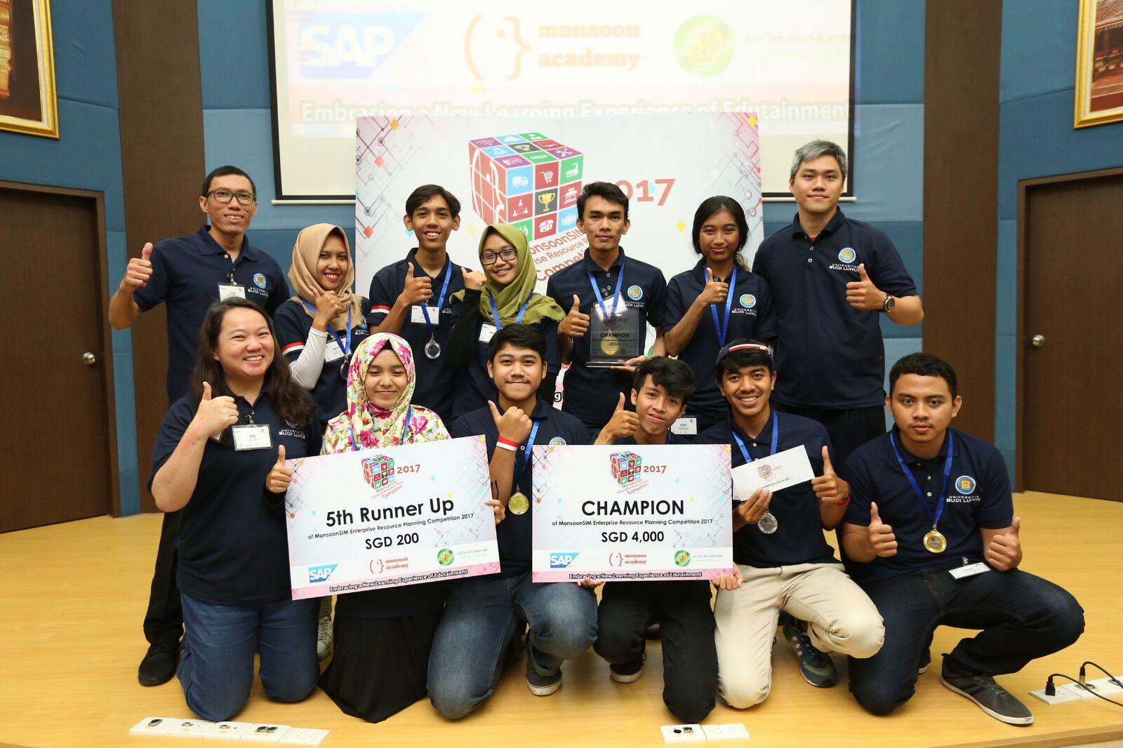 Universitas Budi Luhur Meraih Juara 1 dan 6 Pada Ajang MERPC 2017 di Kasetsart University, Bangkok-Thailand