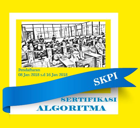 Pendaftaran Ujian Sertifikasi Algoritma Semester Gasal 2017/2018