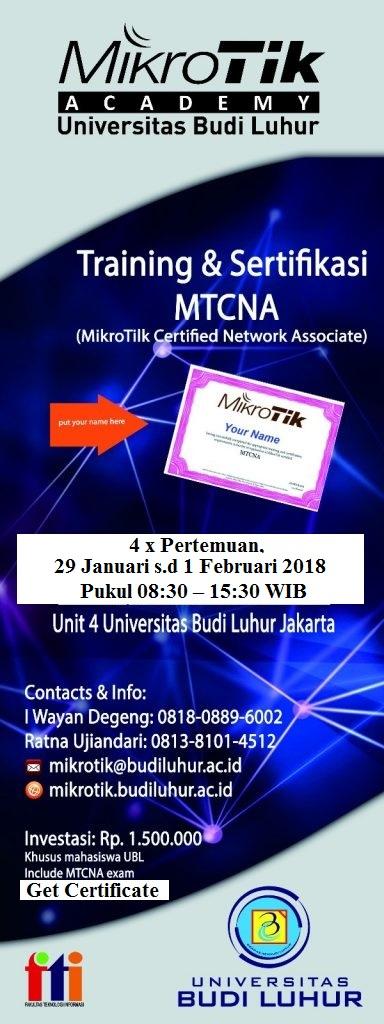 [Update] Training & Sertifikasi Mikrotik MTCNA