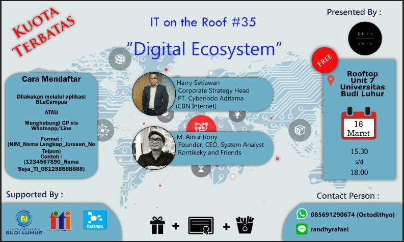 """Seminar ITOR #35 """"Digital Ecosystem"""""""