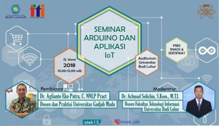 Seminar Arduino dan Aplikasi Internet of Things