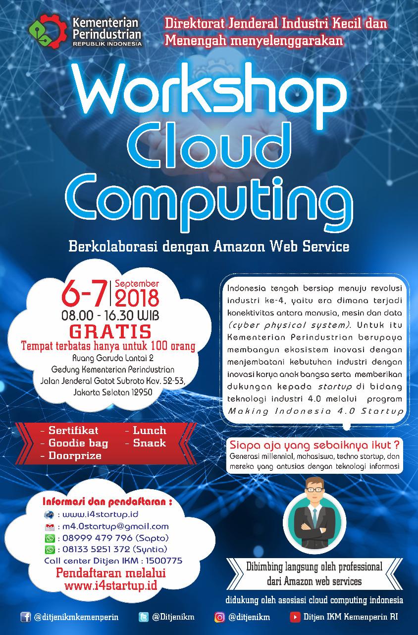 Workshop Cloud Computing dan Making Indonesia 4.0 Startup
