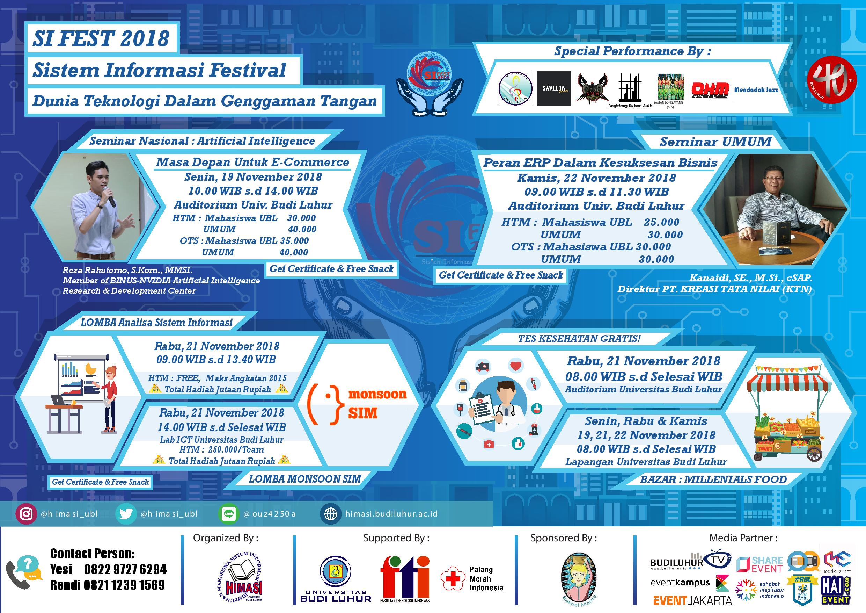 SI FEST 2018 Universitas Budi Luhur