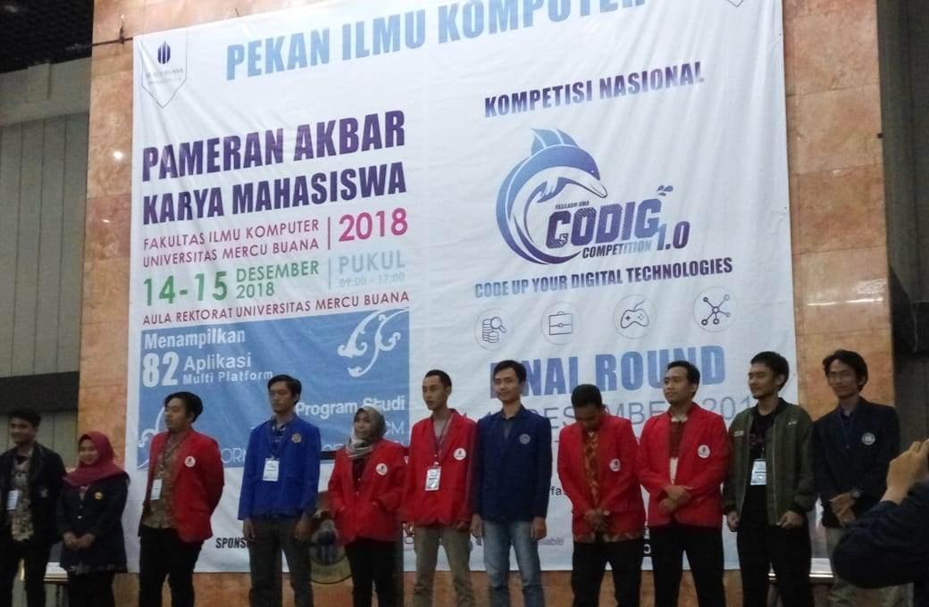 Universitas Budi Luhur Raih Juara 3 Kompetisi CODIG 1.0