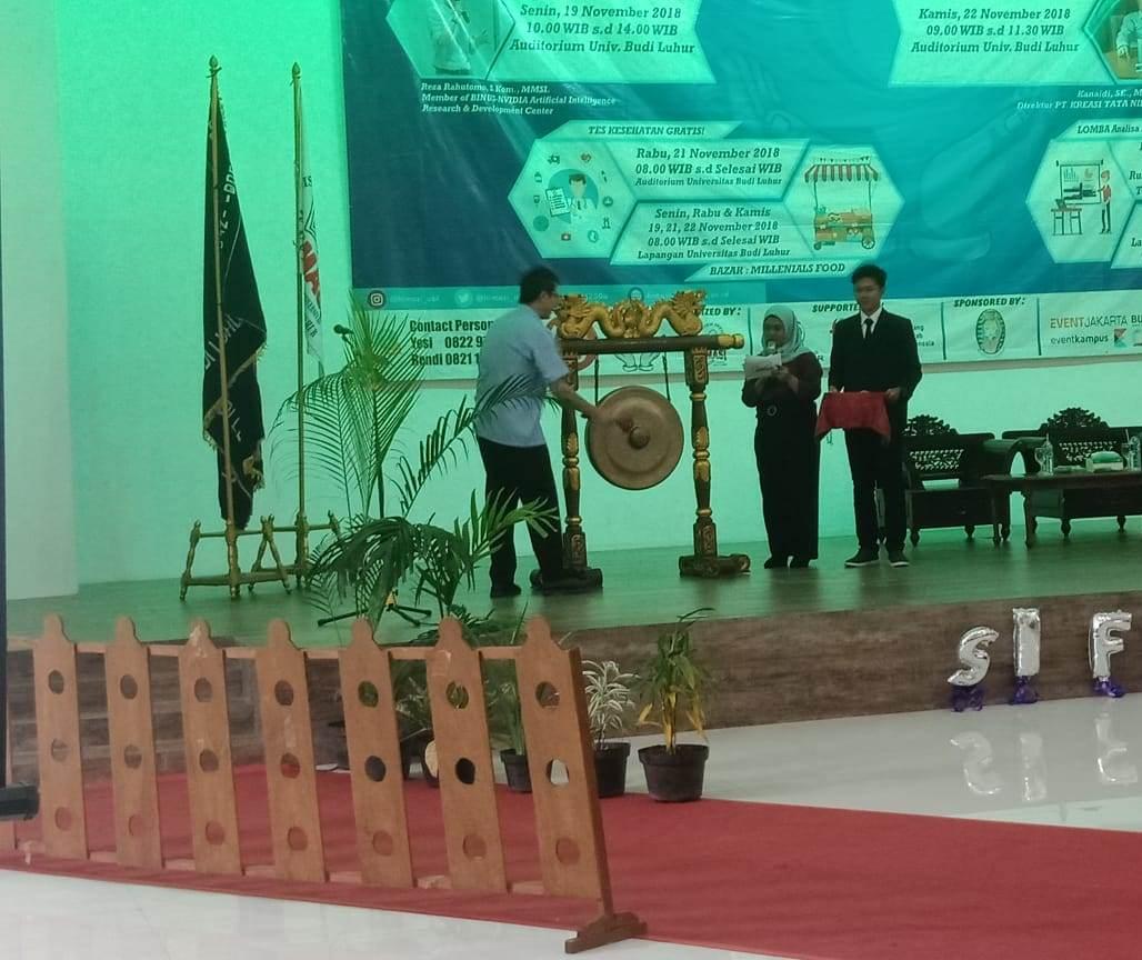 Pelaksanaan SI Fest 2018 Universitas Budi Luhur-Pembukaan