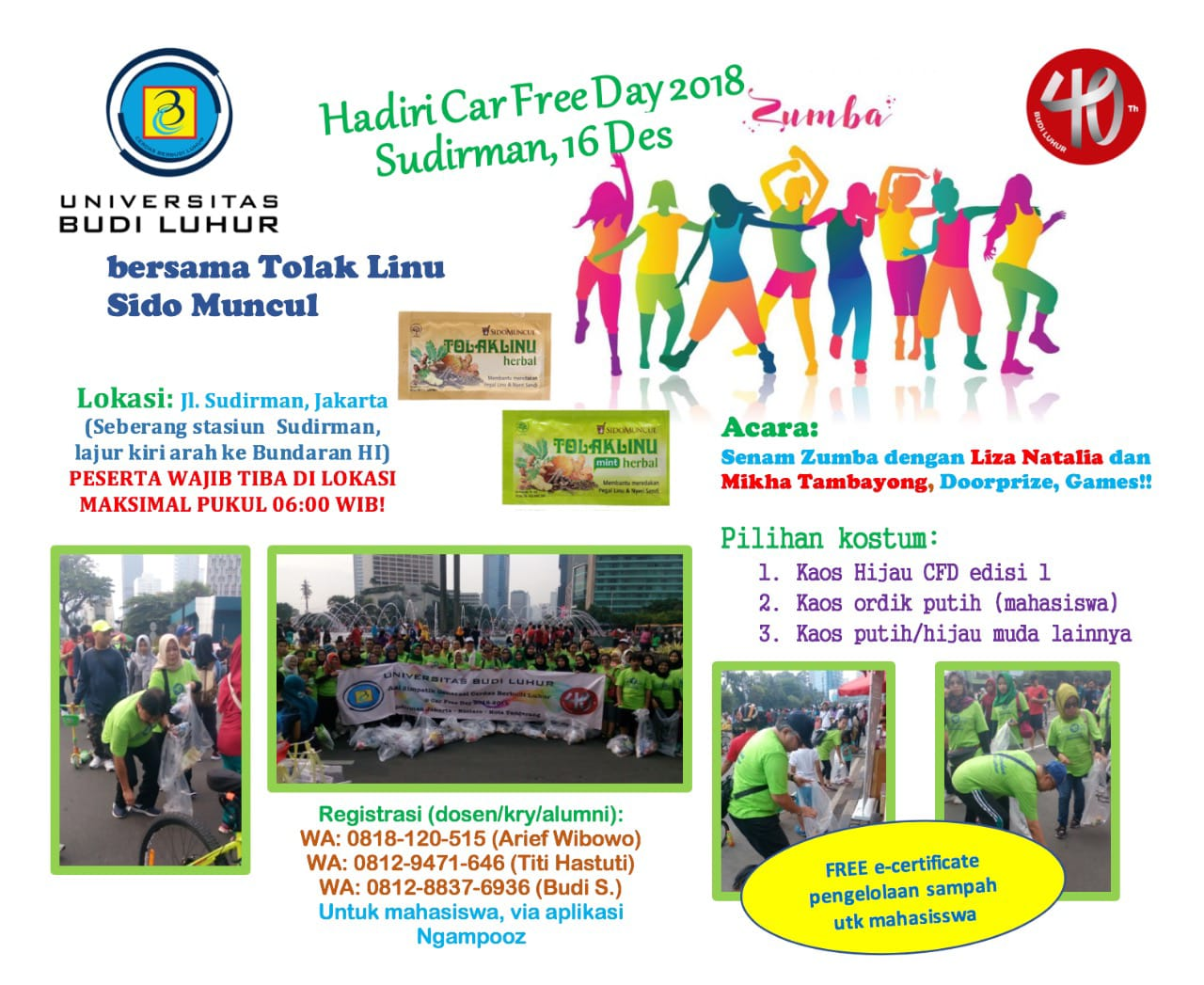 Car Free Day Universitas Budi Luhur