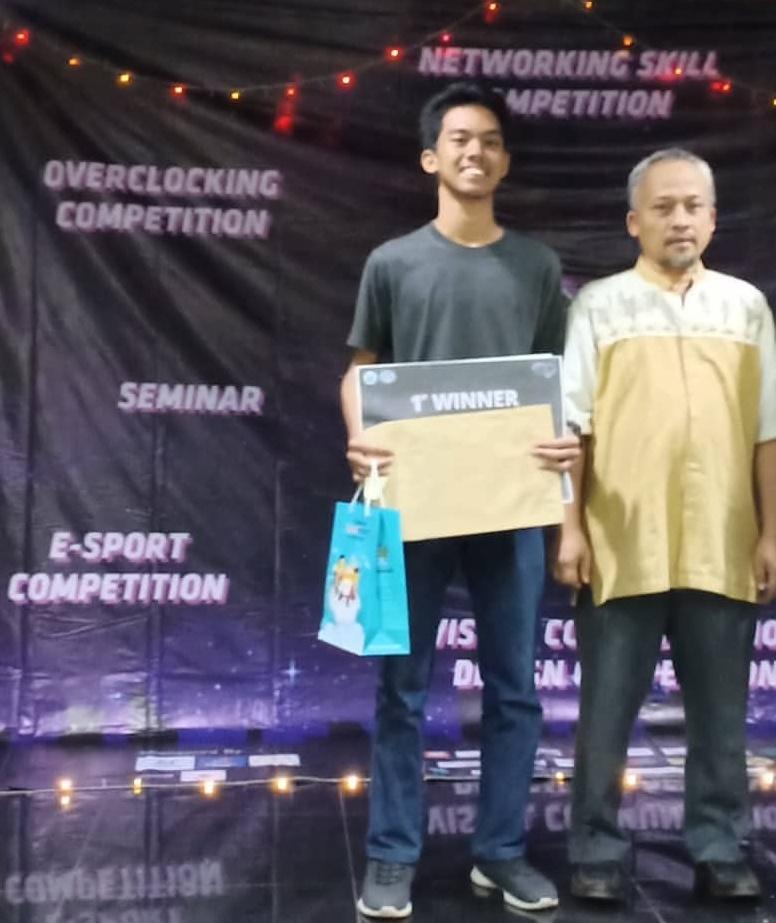 Juara I padaNetworking Skill Competitionyang diraih olehZasda Yusuf Mikail (1611500891)