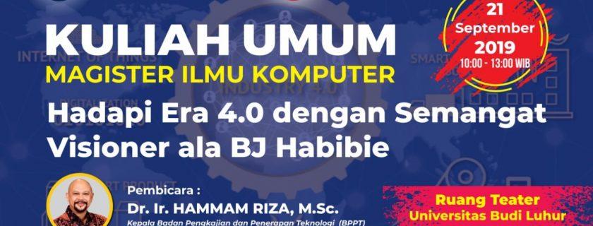 Kuliah Umum 21 September 2019