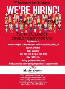 Technical Leader Development Program