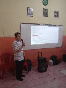 Proses Pelatihan Dengan Pembicara Bapak Dr. Indra, S.Kom., M.T.I