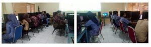 Siswa/i SMK Berbudi Yogyakarta Sedang Melaksanakan Praktikum Pembuatan Blog