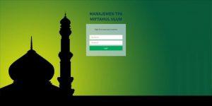 Halaman Utama Sistem Penerimaan dan Rekam Jejak Santri TPA Miftahul Ulum