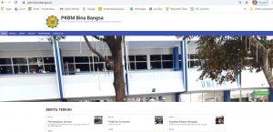 Tampilan Website PKBM Bina Bangsa