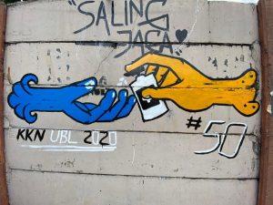 Hasil Melukis Mural di Tembok Lingkungan
