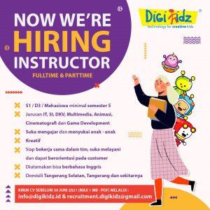 Lowongan Pekerjaan Instructor Fulltime & Parttime