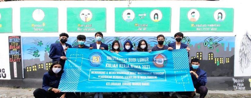 KKN Universitas Budi Luhur di Jurang Mangu Barat Tangerang Selatan
