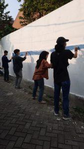 Kegiatan Membuat Mural tentang 5M dan Bahaya Covid