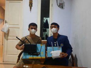 Penyerahan Router internet untuk RT Jurang Mangu