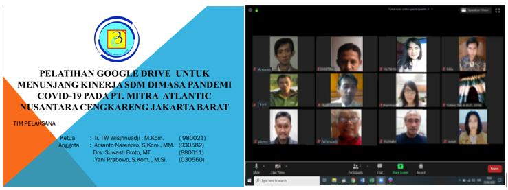 Pelatihan Google Drive Untuk Menunjang Kinerja SDM Dimasa Pandemi Covid-19 Pada PT. Mitra  Atlantic  Nusantara Cengkareng – Jakarta Barat